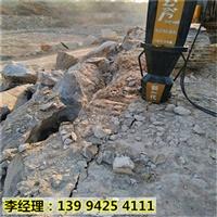 黑龙江黑河柱式岩石分裂劈石棒静态液压机械做工精细