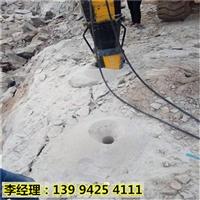 陕西渭南石头破裂机大块石头撑裂机工作原理
