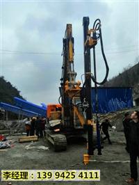 湖南株洲水坝建设开挖岩石分裂机现场教学