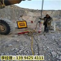 新疆喀什修路坡遇到硬石头破碎锤打不动怎么办劈裂棒循环使用