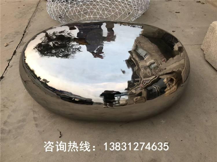 不銹鋼鵝卵石,熠熠生輝的水景雕塑