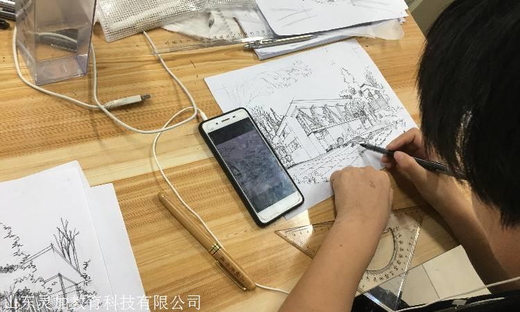 山东灵加设计ui培训视觉设计图纸ui设计师教育室内装修课程培训中文图片