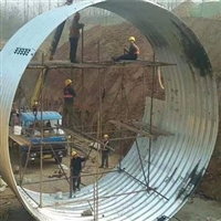 内蒙钢波纹管涵厂家 涵洞钢波纹管好 桥隧加固波纹钢板