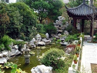太湖石价格、园林庭院、太湖石假山、水池围边