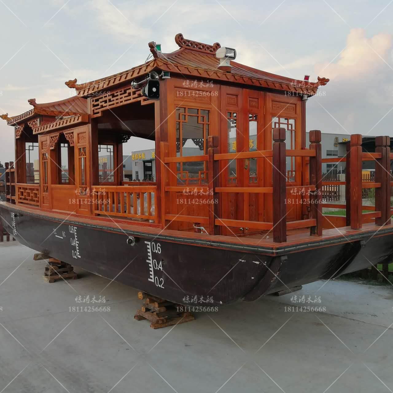 上海定制画舫 乌篷船厂房家 水上游船