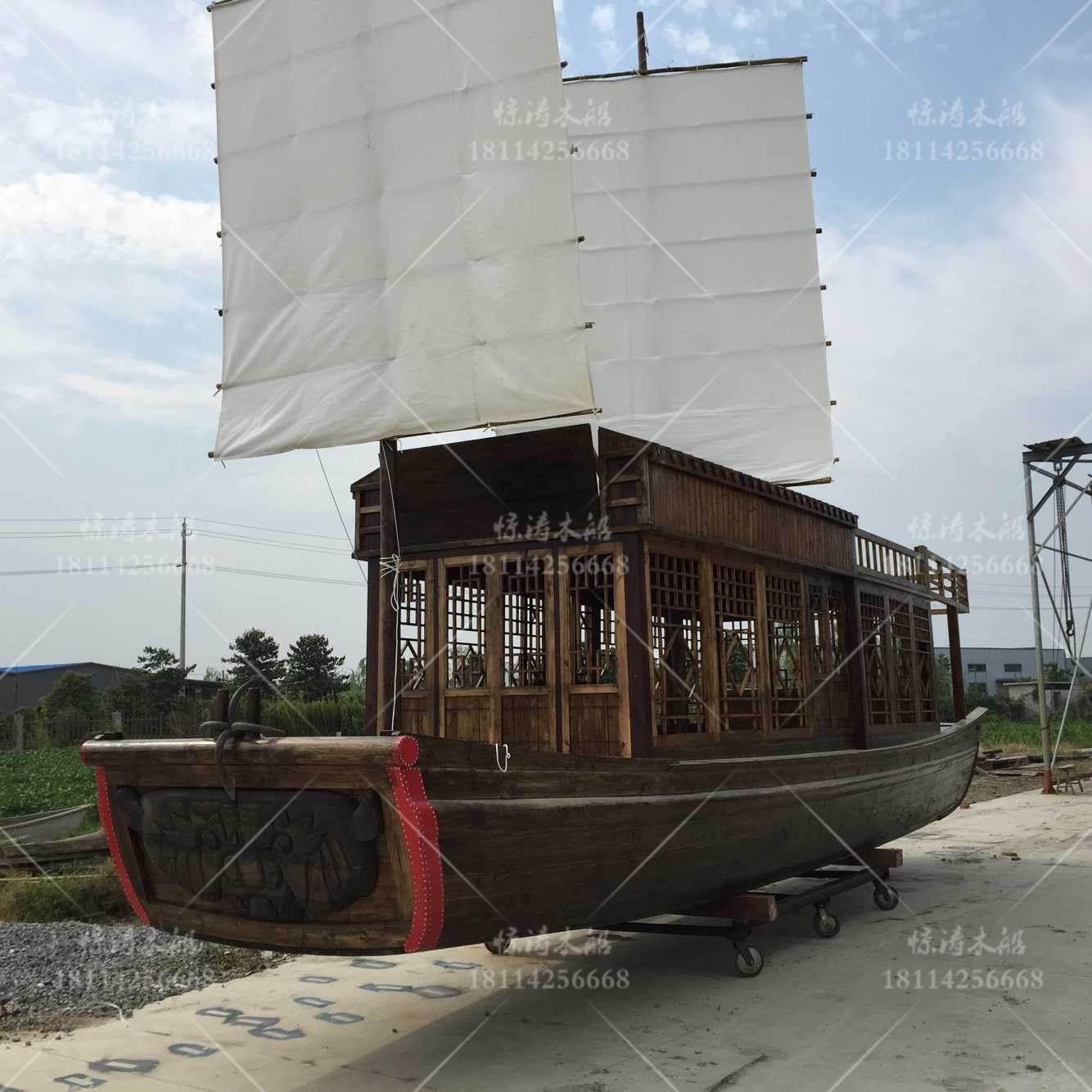 荆州二手木船 仿古画舫船