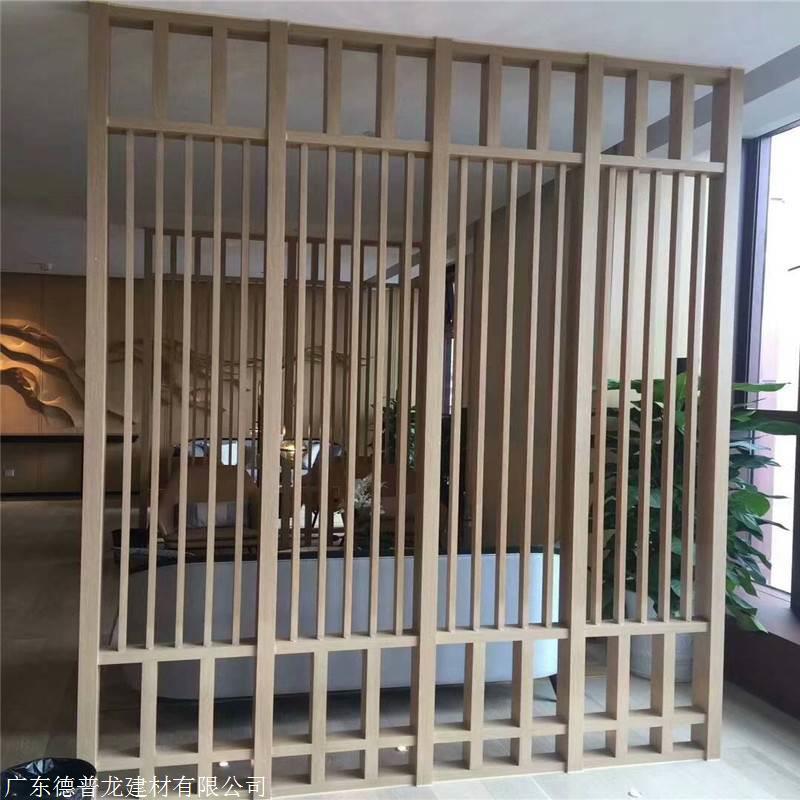 校区复古中式铝窗花价格 木纹铝窗花厂家批发