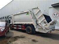 乐东黎族自治县12吨垃圾车勾臂式促销,垃圾车压缩12方东风