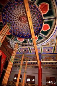定制寺庙铝扣板 彩绘佛堂天花板 建筑装修板材