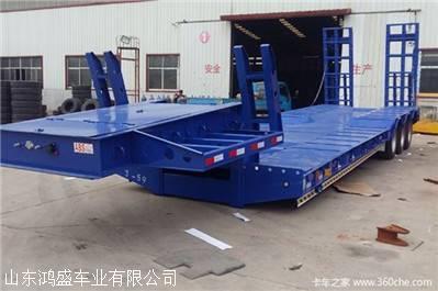 13.75米低平板半掛車價格 花紋鋼板