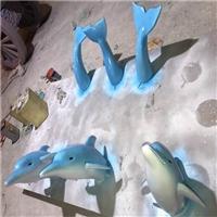 海洋主题雕塑、玻璃钢仿真海豚雕塑、佛山玻璃钢海豚造型雕塑定制