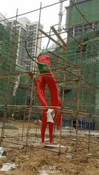 辣椒造型雕塑 城市代表雕塑 玻璃钢辣椒雕塑厂家 美陈植物系列