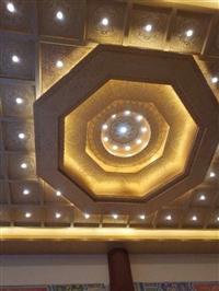 家装佛堂天花板观音殿装修设计