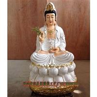 观世音菩萨佛像厂供应 玻璃钢观音树脂佛像 手工木雕刻寺庙 佛像