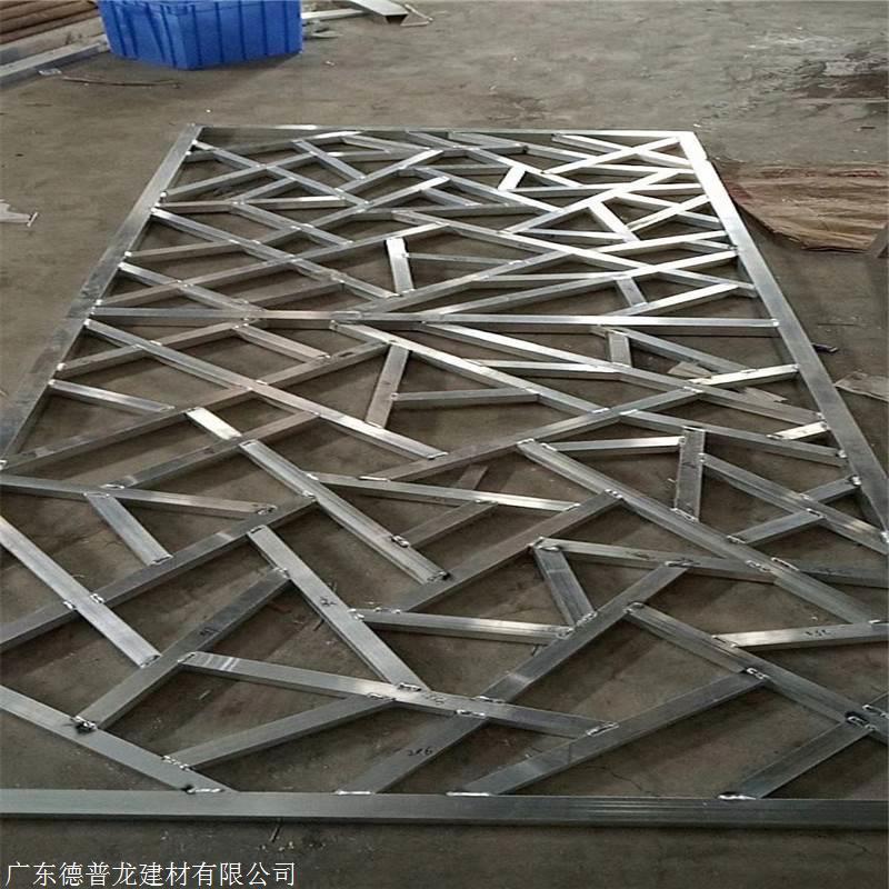 焊接铝窗花厂家价格 冰裂纹铝花格效果图