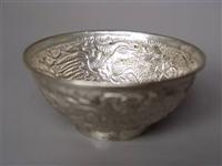 花卉纹银碗该怎么去展览展销