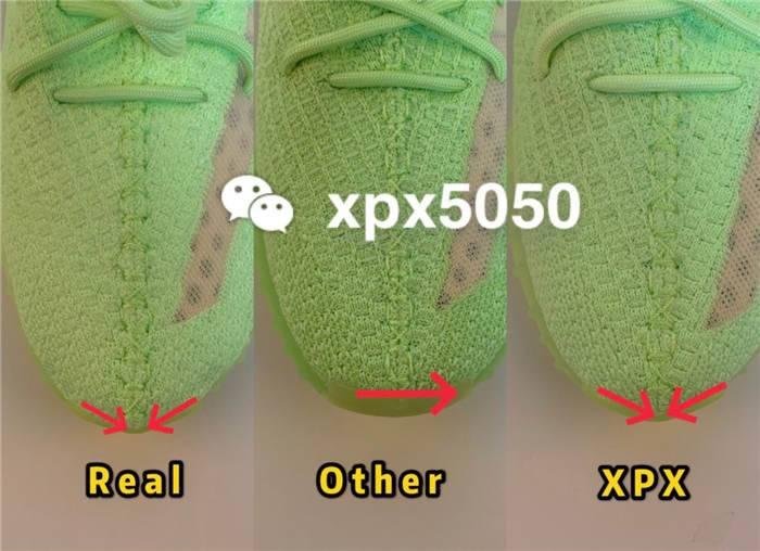 椰子350夜光绿晚上发光效果 鞋底是夜光粉吗