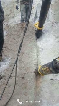 土石方开挖岩石静态破碎劈裂机  四川达州