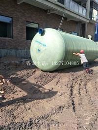 广西梧州150方玻璃钢化粪池并联安装