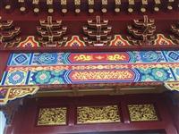 中式仿古装修屋檐门楼斗拱装饰