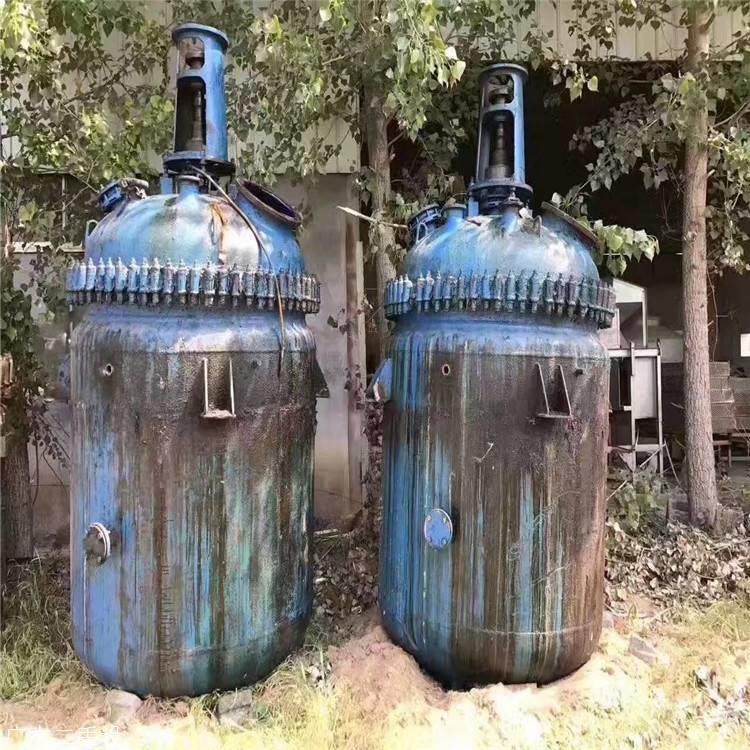 全国回收搪玻璃反应釜 2吨反应釜多少钱