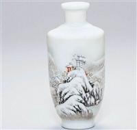 民国雪景图瓶有公司高价拍卖吗