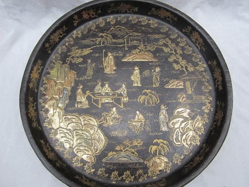 漆器圆盘同类藏品成交记录(artron数据):    藏品名称:南宋至元 乌面