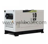 亚凯水冷柴油静音发电机组 10kw柴油电启动单相发电机