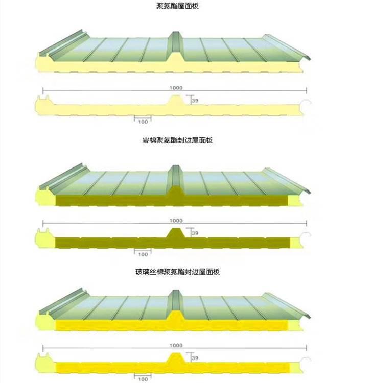 聚氨酯金属外墙板  彩钢聚氨酯复合板承德市哪里买中汇建筑钢品