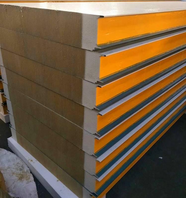 茌平县聚氨酯封边岩棉复合板 价位中汇聚氨酯复合板价位