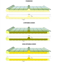 彩钢聚氨酯复合板  聚氨酯封边岩棉复合怀柔区厂家供应中汇钢构