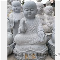 天然花岗岩石雕小沙弥 麻石小和尚 惠安石雕小沙弥人物佛像雕刻
