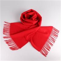 纯羊绒围巾定制 大红围巾工厂可加LOGO 礼品围巾定做