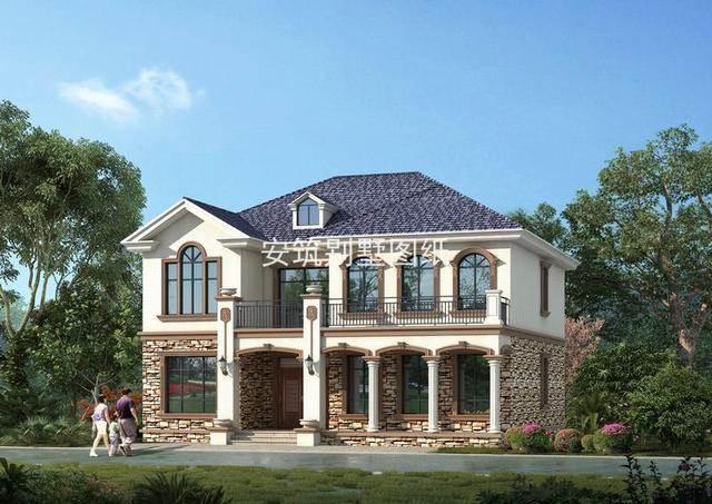 外观精致的欧式乡村别墅,复式客厅的设计,只有高大尚的描述