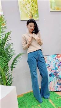 CK国际大牌2019秋季新款 品牌女装尾货套头毛衣 专柜正品