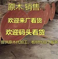 銷售菠蘿格原木 雜木 硬木紅柳桉原木巴勞木原木 大匹馬原木