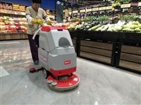 河池洗地机在保洁工作中的应用