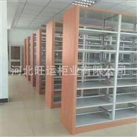 书架厂家定制 钢制书架 学生书架 钢制木护板书架 图书馆钢制书架