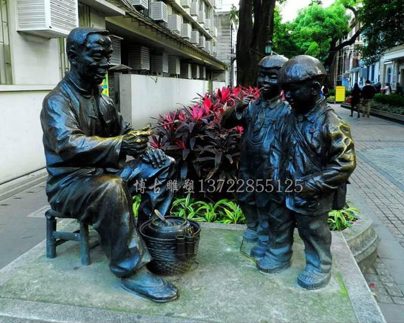 民俗文化铸铜雕塑 公园广场景观铸铜人物雕塑