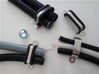 批发4*21多管排管管卡 U型金属多管管夹 单排双层管夹国标规