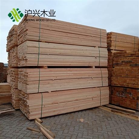 铁杉澳松建筑木方四面抛光加工土木工程方木加工定制-沪兴木业