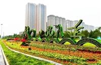 五色草造型立體花壇 -山西太原綠雕廠家