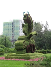 立體花壇園林景觀喜愛-獨特的園林綠雕景觀