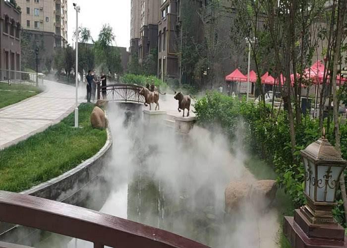 赣州人造雾森喷雾设备净化原理130的房子平米装修设计如何图片