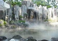 宣城公園假山人造霧森壓力調節