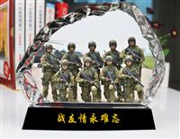 退伍合影留念纪念品 战友退伍纪念品定制定做 广州礼品制作厂家