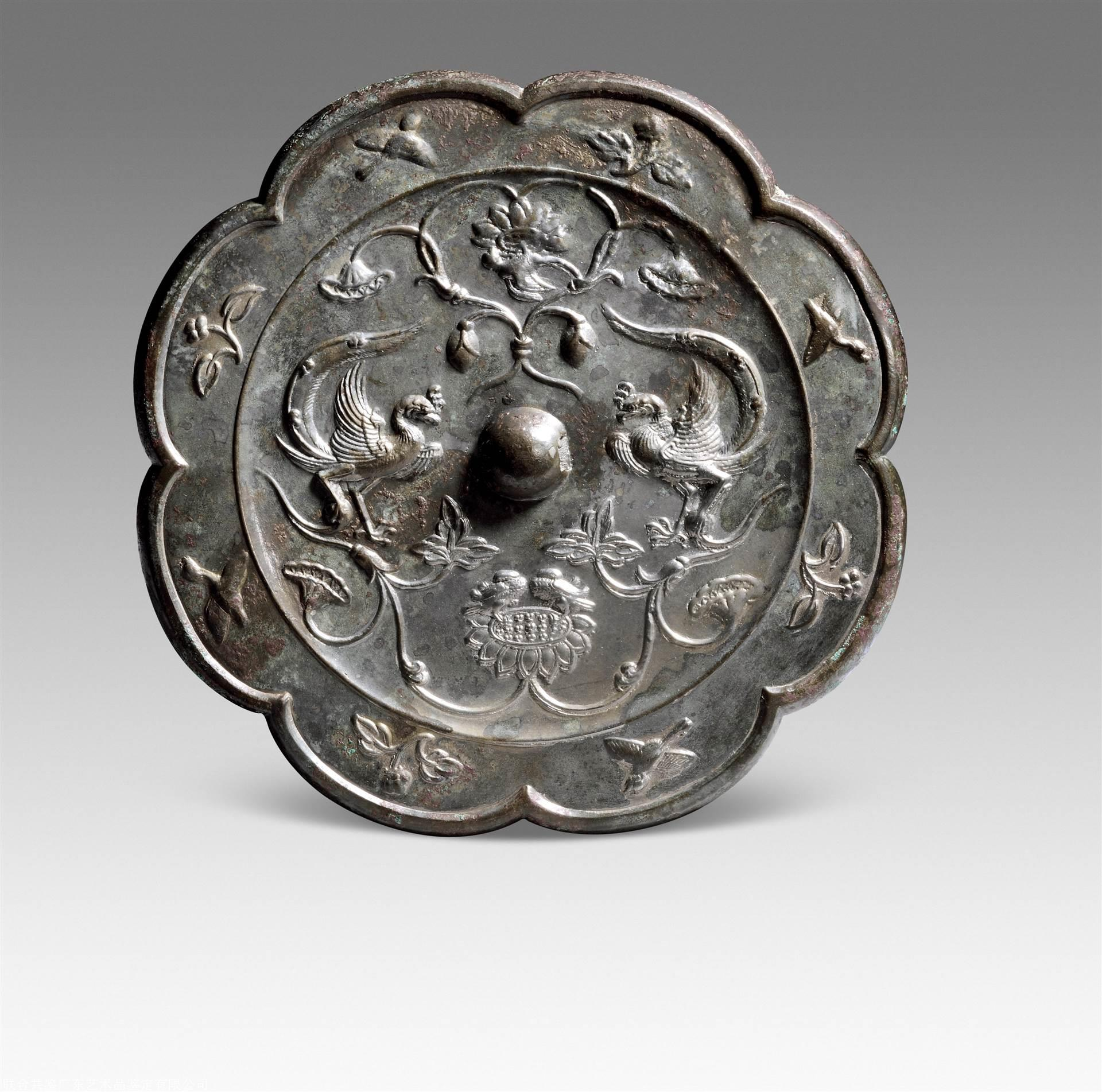 铜镜鉴定 联合共鉴艺术品鉴定中心:双鸾鸳鸯镜