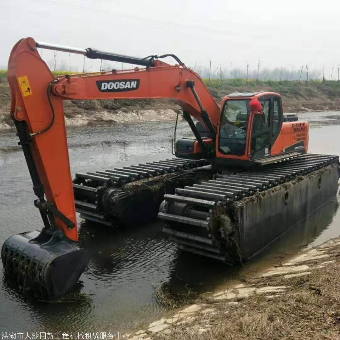 湖州水陆挖掘机租赁怎么收费