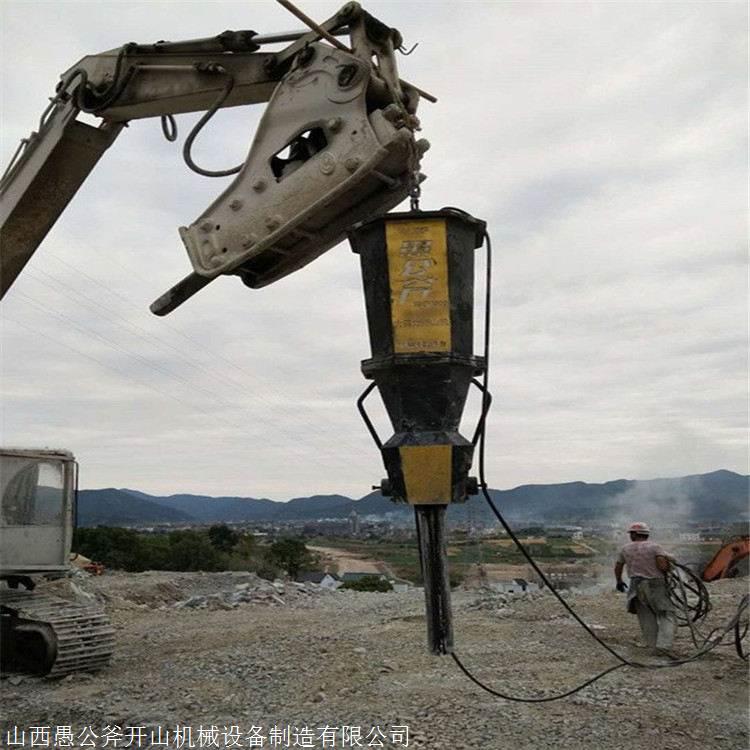 黑龙江穆棱开山采石代替放炮开采岩石机械 岩石杏耀登陆下载机