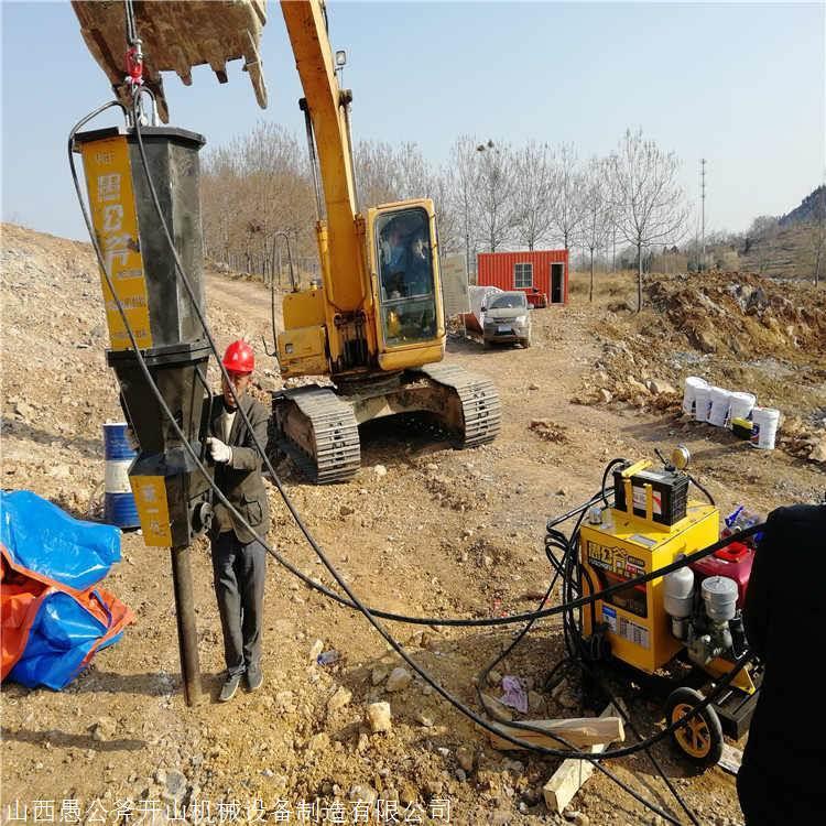 内蒙古兴安花岗岩矿山开挖岩石裂石器